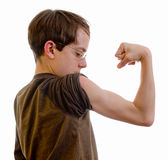 Look at my muscles stock photography