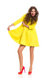 Look at My New Yellow Dress Stock Photo