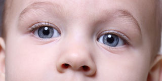 Look of nice baby close up Stock Photos