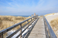 Look at the North Sea. Im Winter auf Sylt auf die Nordsee schauen Stock Images