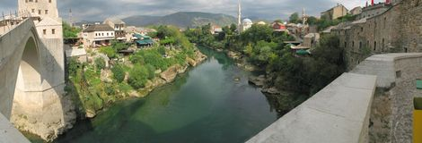 Look from old bridge in Mostar Royalty Free Stock Image