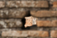Look through an old Roman wall Stock Photography