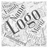 Look At One Creator word cloud concept. A Look At One Creator Of Sports Logos Stock Illustration