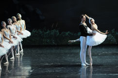 Look at one's image in the mirror and pity oneself-The Swan Lakeside-ballet Swan Lake Royalty Free Stock Photo