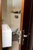 Bathroom door Royalty Free Stock Photos