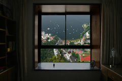 Look out. To the bay from the room window Stock Photography
