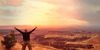 Look out on the Canyonlands Stock Images