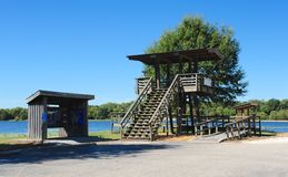 Look-out deck at Hatchie National Wildlife Refuge, Haywood, Tennessee. Stock Images