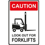 Look out for forklift Stock Photos
