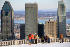 Look out at Mont Rayal in Montreal Stock Image