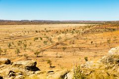 Look out at Riversleigh queensland. Look out at Riversleigh famous for dinosaur diggings in queensland stock photo