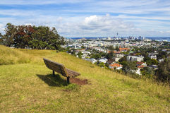 Look Out Spot on Mt Hobson Auckland New Zealand. Quiet Place on the mountain Stock Image