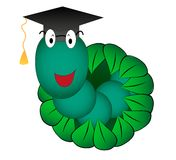 Look out student worm. Vector illustration look out student worm Royalty Free Stock Photography