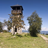 Look-out tower in Martakov vrch Stock Image