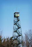 Look-out tower at state park for forest fires. Royalty Free Stock Photography