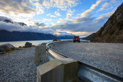 Look out view of wakatipu lake in queentown south island new zea Royalty Free Stock Photo