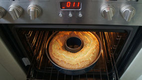 Look in the oven Stock Photography