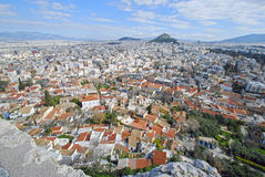 Look over Anafiotika, Athens, Greece Royalty Free Stock Image