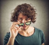 Look over sunglasses Royalty Free Stock Photo