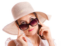 Look over sunglasses Royalty Free Stock Image