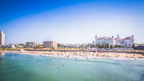 Look at the people on the beach waterfront of Port Elizabeth Royalty Free Stock Images