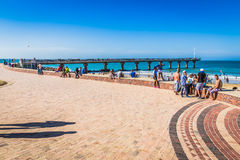 Look at the people on the beach waterfront of Port Elizabeth Stock Images
