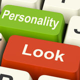Look Personality Keys Shows Character Or Superficial Royalty Free Stock Image