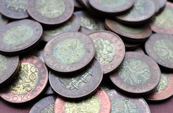 Coins. Look at the pile of coins Stock Photos