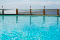 Look of the pool with turquoise-coloured water on the Mediterran. Ean Sea Royalty Free Stock Photos