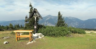 Look from Rax Alps to Hochsneeberg Stock Images