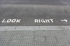 Look Right Royalty Free Stock Image