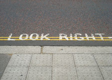 Look Right! Royalty Free Stock Images