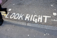 Look Right Stock Photos