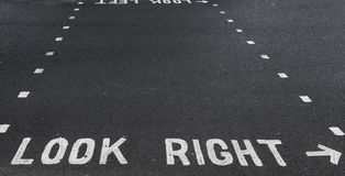 Look right! Stock Images