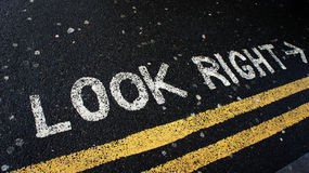 Look right in London Royalty Free Stock Image