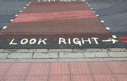 Look Right sign Royalty Free Stock Photo