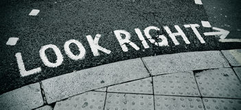 Look right sign Stock Photography