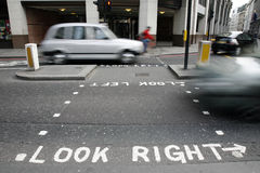 Look right sign Royalty Free Stock Photos