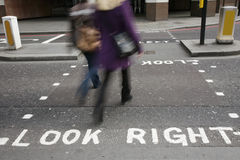 Look right sign Stock Photos