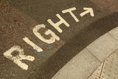 Look Right Street Sign Royalty Free Stock Photography