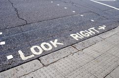 Look Right Stock Image