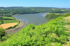 Look at the river Aulne, France Stock Image