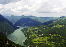Look on the river Drina Royalty Free Stock Photos