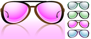 Look Through Rose-Colored Spectacles Stock Photography