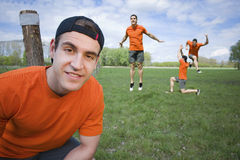 Look of runner in the foreground Royalty Free Stock Images