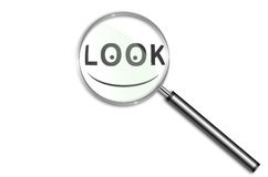 Look and smile Stock Images
