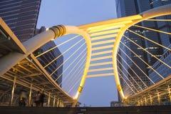 A look strang bridge thailand Stock Photos