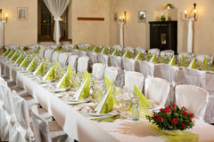 Tables are for festivities Royalty Free Stock Images