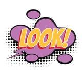 Look text comic word Stock Photo