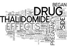 A Look At The Thalidomide Tragedy Word Cloud stock illustration
